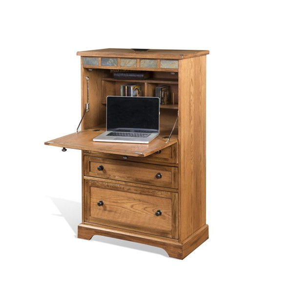 Sunny Designs Sedona Light Brown Sedona Laptop Armoire 2848RO2