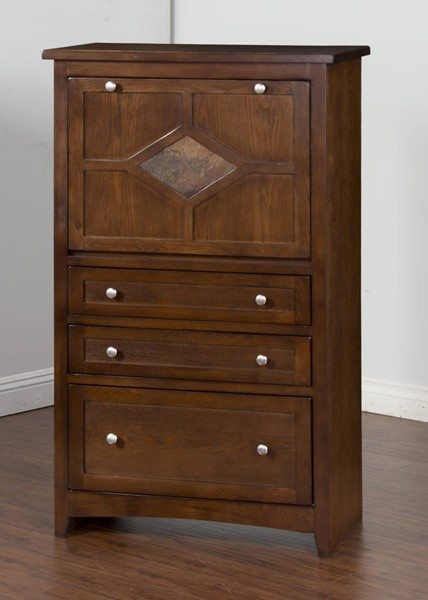 Cappuccino Traditional Wood Laptop Armoire 2849CA