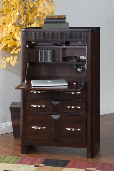 Monterey Merlot Wood Laptop Armoire Credenza Desk 2849MT