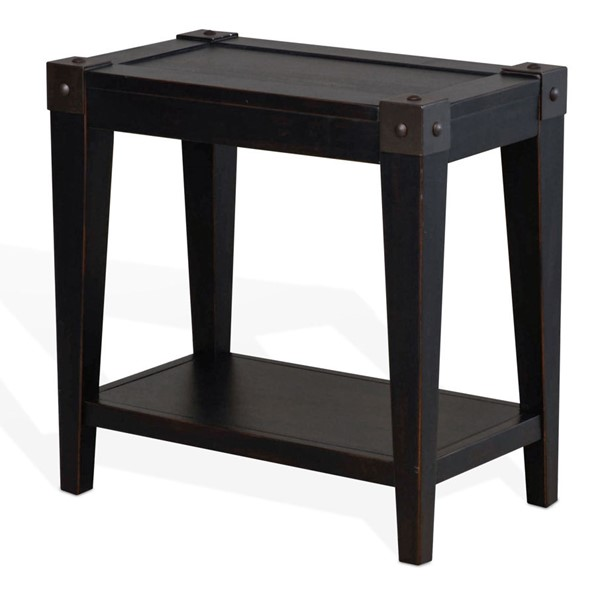 Sunny Designs Seal Beach Black Chair Side Table 3124BW-CS