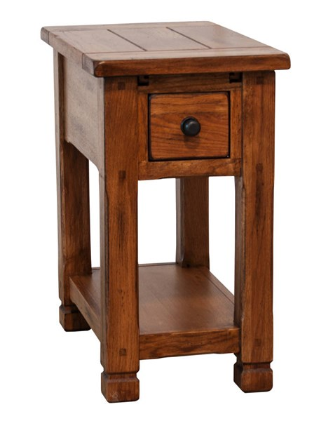 Sunny Designs Sedona Rustic Oak Rectangle Chair Side Table