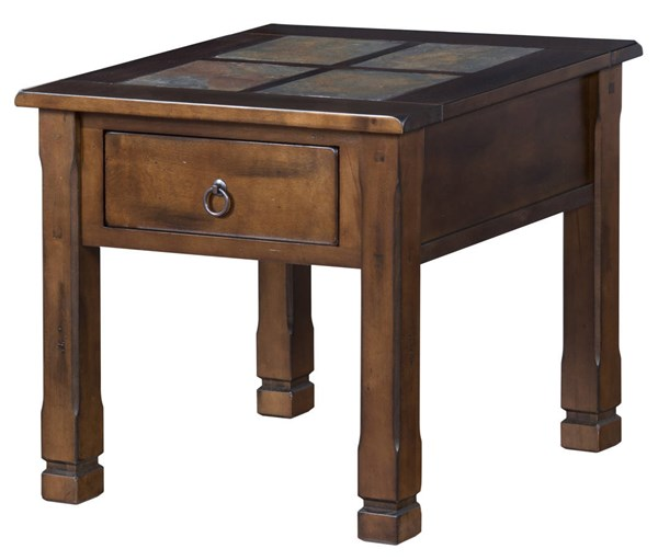 Sunny Designs Santa Fe Dark Brown End Table 3144DC-2