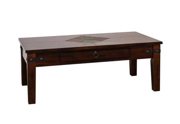 Sunny Designs Santa Fe Wood Storage Coffee Table 3160DC-C
