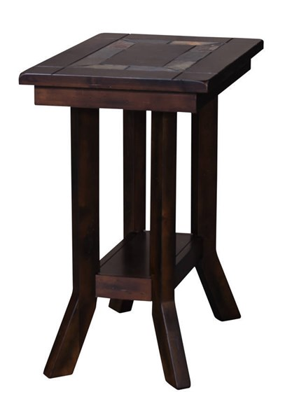 Santa Fe Dark Chocolate Wood Storage Rectangle Chair Side Table 3175DC-CS