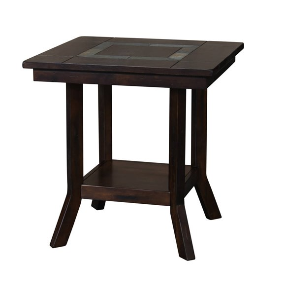 Santa Fe Dark Chocolate Wood Storage Square End Table 3175DC-E