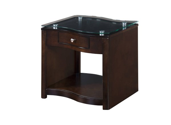 Espresso Wood End Table Top Glass Only 3177E-E2