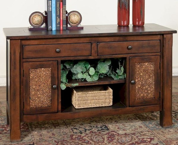 Woodland Dark Tobacco Wood Rectangle Sofa/Console Table 3228DT-S
