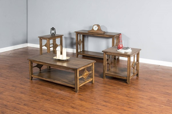 Coventry Burnish Mocha Wood Storage Rectangle Coffee Table Set 3245BM-OCT