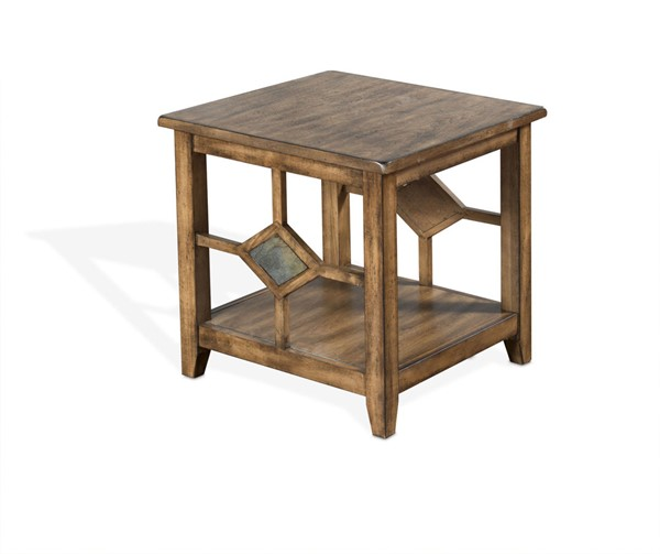 Sunny Designs Coventry Medium Brown End Table 3245BM-E
