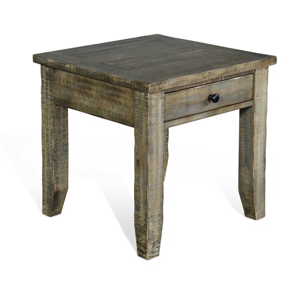 Sunny Designs Puebla Driftwood End Table 3268DW-E