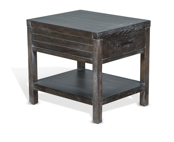 Sunny Designs Dundee Dark Brown End Table 3271KB-E