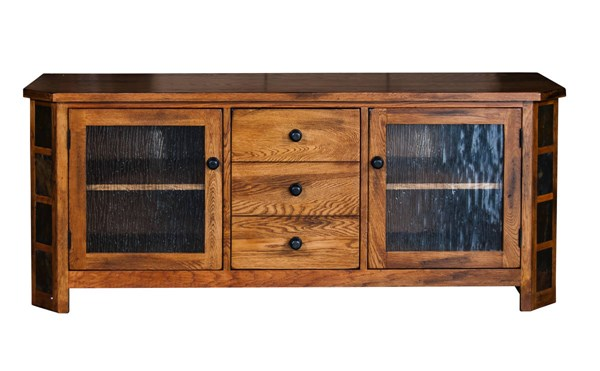 Sunny Designs Sedona Rustic Oak Drawers and Shelves TV Console 3395RO-62