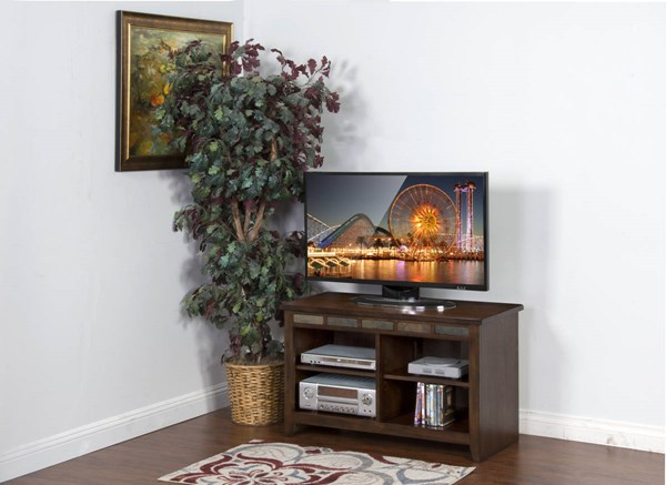 Oxford Traditional Dark Oak Wood TV Consoles 3398DO-VAR