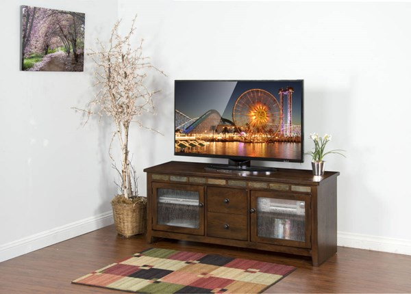 Sunny Designs Oxford Dark Brown 62 Inch TV Console 3398DO-62