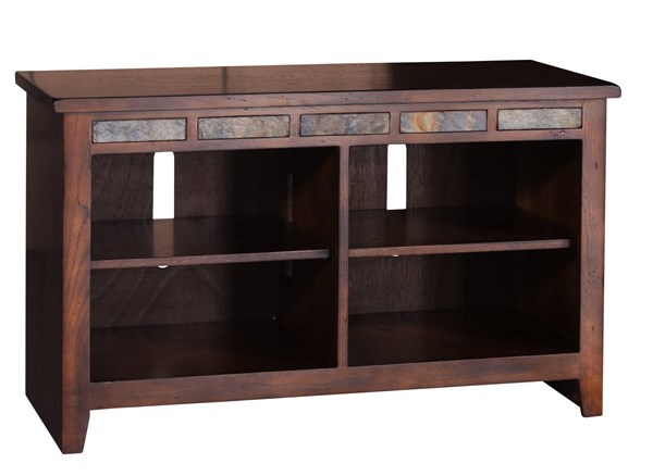 Santa Fe Dark Chocolate Wood Four Shelves 42 Inch TV Console 3436DC-42R