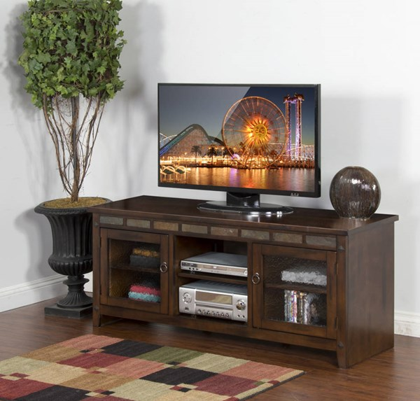 Sunny Designs Santa Fe Dark Brown 62 TV Console 3436DC-62R