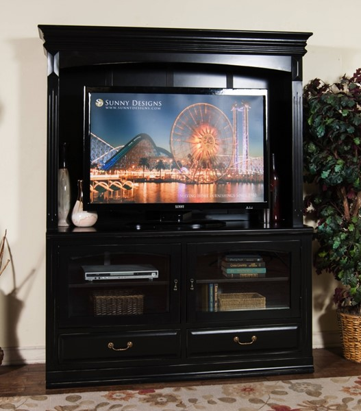 Sunny Designs Laguna Black TV Console Only 3439B-TC