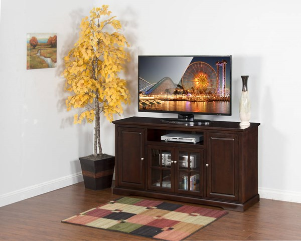 Sunny Designs Monterey Dark Brown 64 Inch TV Console 3474MT-64