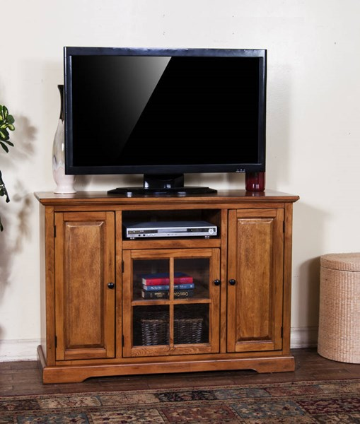 Sunny Designs Rustic Birch Door TV Console 3474RB-48