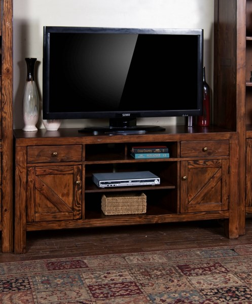 Sunny Designs Ranch House Bronze 62 Inch TV Console Only 3485AB-62
