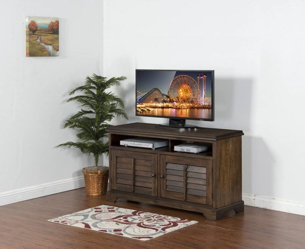 Savannah Antique Charcoal Wood 54 Inch TV Console 3497AC-54