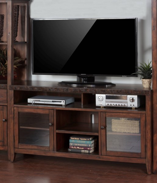 Sunny Designs Tuscany Medium Brown 62 Inch TV Console 3540VM-62