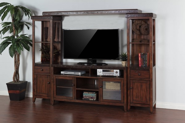 Tuscany Vintage Mocha Wood Entertainment Right Pier 3540VM-PR