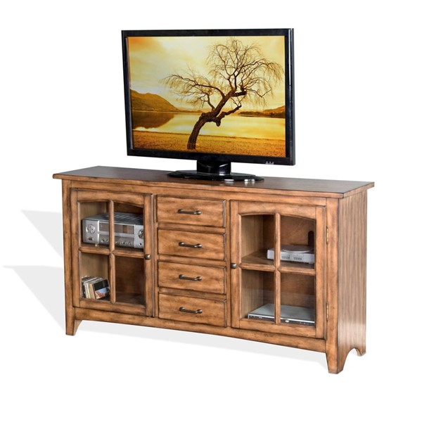 Sunny Designs Burnish Mocha Elements TV Console 3562BM-64