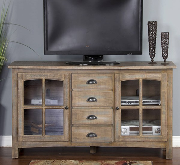 Glass Drawers And Shelves Elements 64 Inch TV Consoles 3562-64-TV-VAR