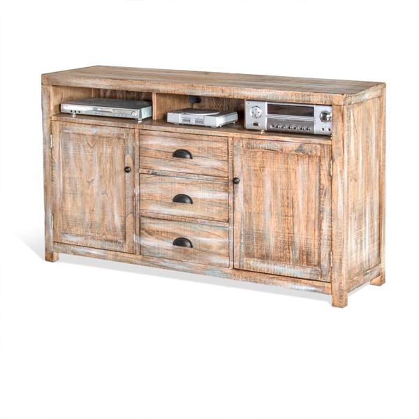 Sunny Designs Durango Weathered Brown 60 Inch TV Console 3563WB-60