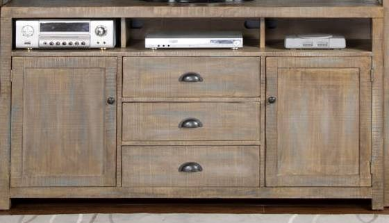 Weathered Brown Wood TV Console 3563WB-TV-VAR