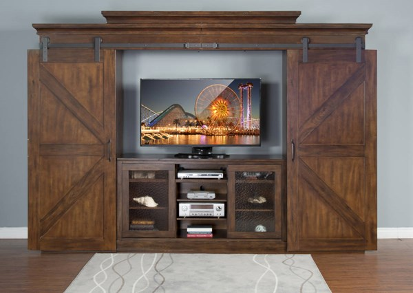 Sunny Designs Santa Fe Dark Brown Entertainment Wall 3565DC2