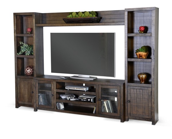 Sunny Designs Homestead Dark Brown Entertainment Wall 3573TL