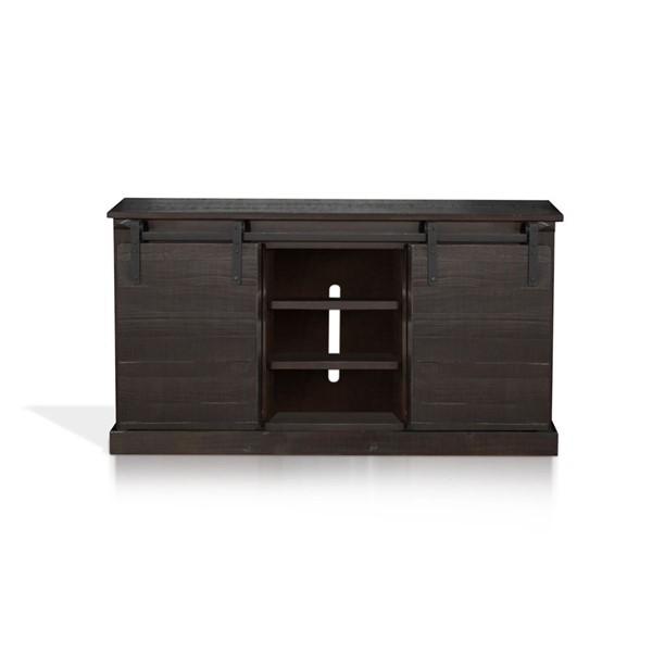Sunny Designs Dark Brown Oak 65 Inch TV Console 3577CO2