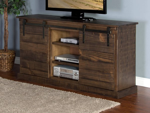 Sunny Designs Homestead Tobacco Leaf 65 Inch TV Console 3577TL