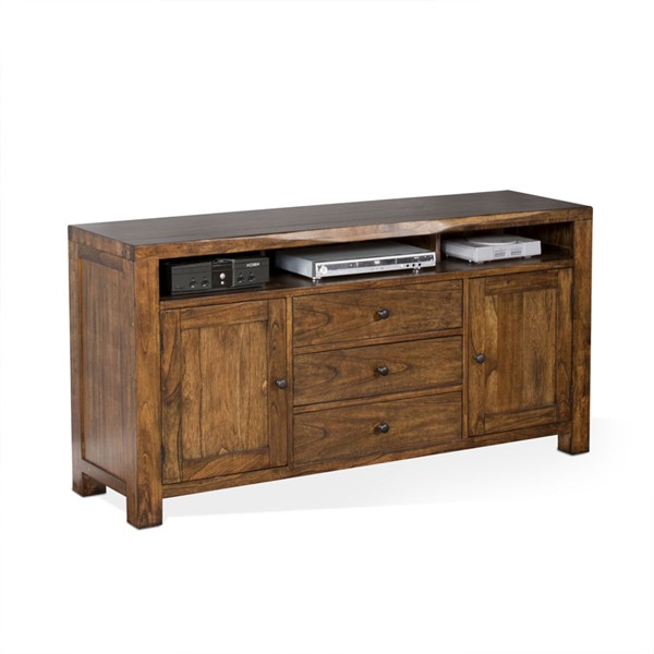 Sunny Designs Cary Live Edge Brown 64 Inch TV Console 3592NW-64