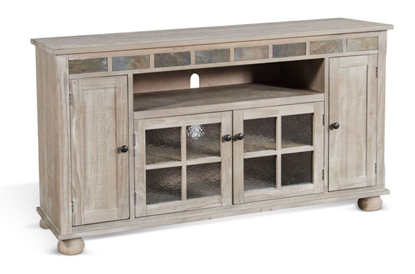 Sunny Designs Taupe Mountain Smoke 62 Inch TV Console 3603MS
