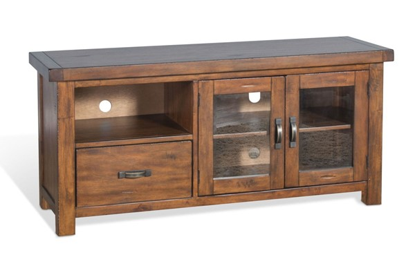 Sunny Designs Tuscany Medium Brown 54 Inch TV Console 3609VM-54