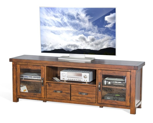 Sunny Designs Tuscany Medium Brown 74 Inch TV Console 3609VM-74