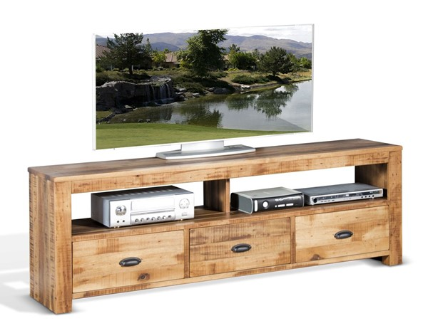 Sunny Designs Coleton Light Brown 74 Inch TV Console 3610AN-74