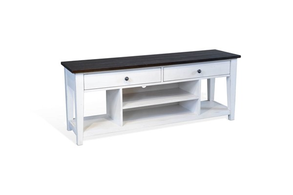 Sunny Designs Carriage House Off White 64 Inch Media Stand 3623EC-M64