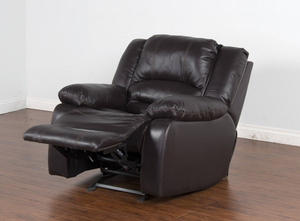 Arizona Chocolate Grain Leather Bustle Back Recliner 5001CH-RM