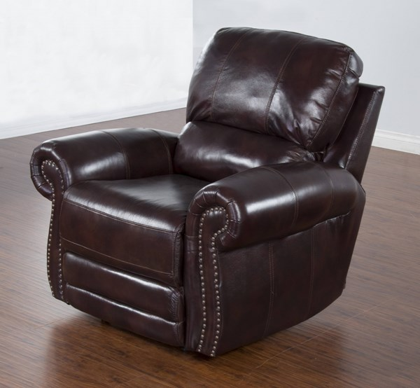 Colorado Burgandy Grain Leather Power Recliner 5003BU-RP