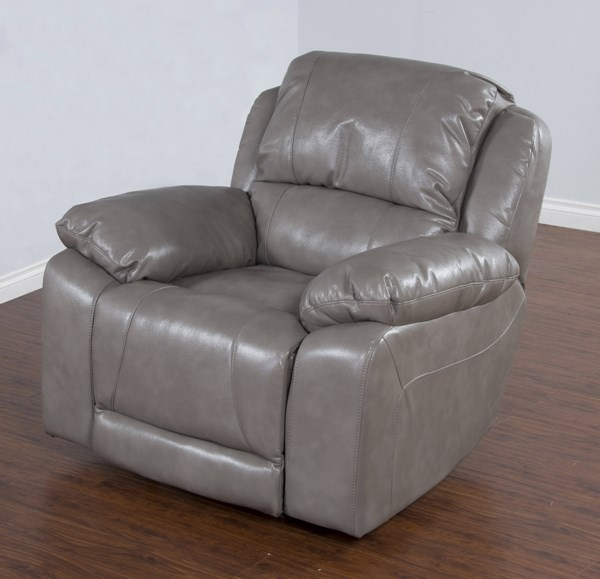 Idaho Taupe Leather Air PU Bustle Back Power Recliner 5201TP-RP