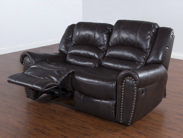 Wyoming Mocha Leather Air PU Dual Recliner Loveseat 5202MO-L2M