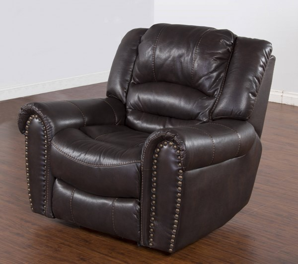 Wyoming Mocha Leather Air PU Bustle Back Recliner 5202MO-RM