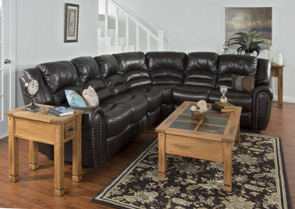 Wyoming Mocha Leather Air PU LAF Recliner Loveseat 5202MO-LA2M