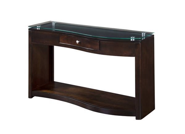 Espresso Wood Sofa Table Top Glass Only 3177E-S2