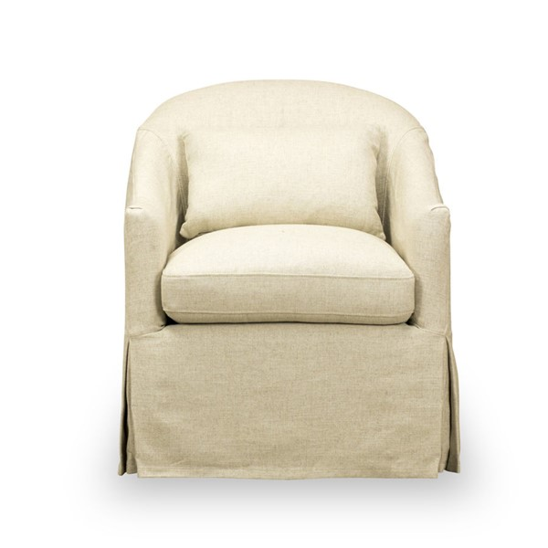 Spectra Home Becky Tribecca Natural Slipcover Swivel Chair SPH-Becky-Slipcover-Swivel-Chair-TN