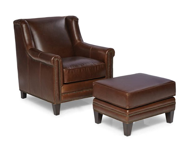 Spectra Home Pendleton Trends Walnut Chair and Ottoman Set SPH-Pendleton-Chair-Ottoman-TW